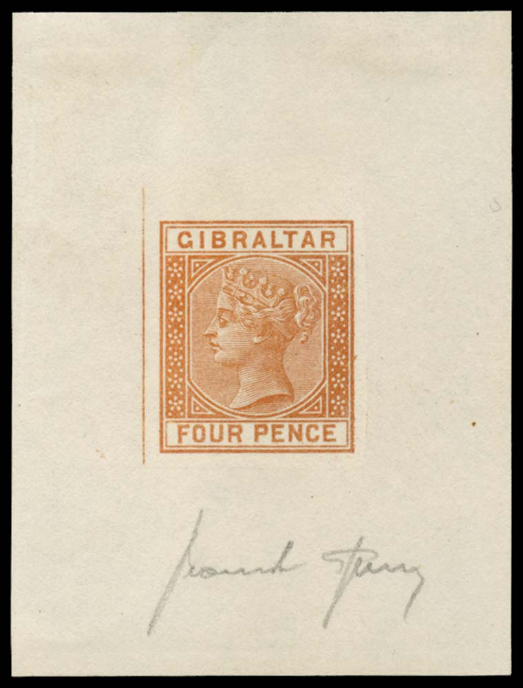 GIBRALTAR 1886  SG12 Forgery