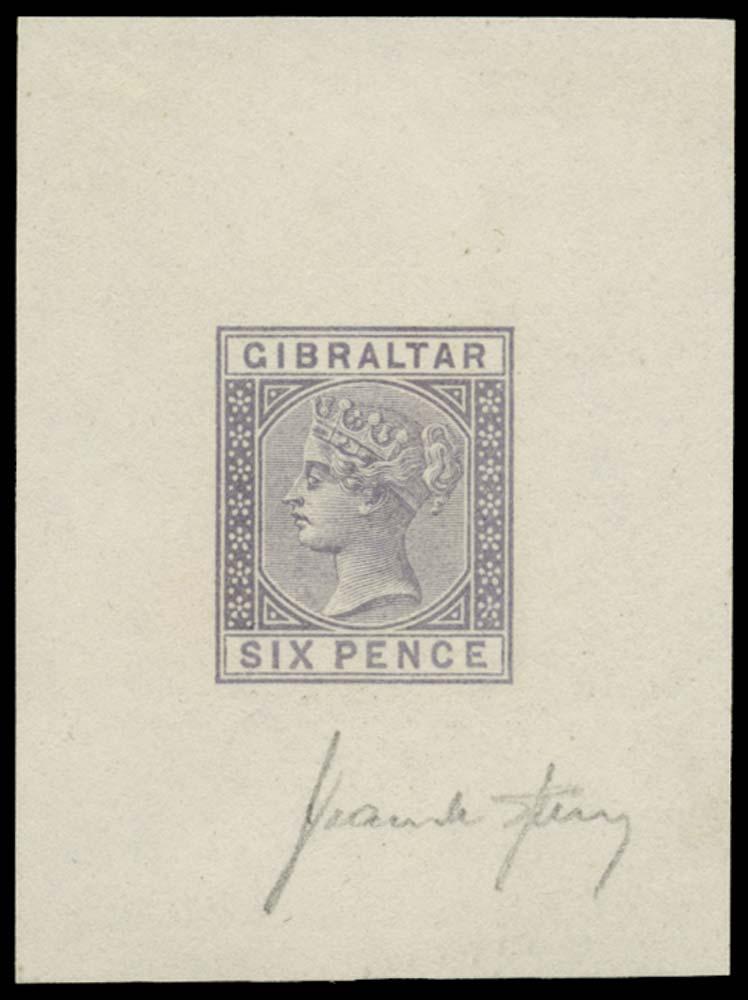 GIBRALTAR 1886  SG13 Forgery