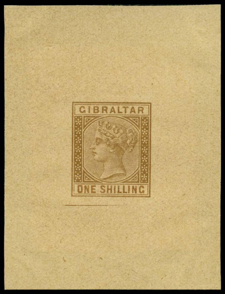 GIBRALTAR 1886  SG14 Forgery
