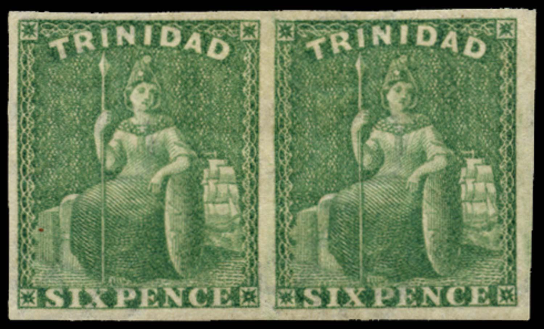 TRINIDAD 1863  SG72dx Mint