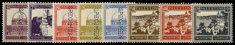PALESTINE 1932  SG104s/11s Specimen