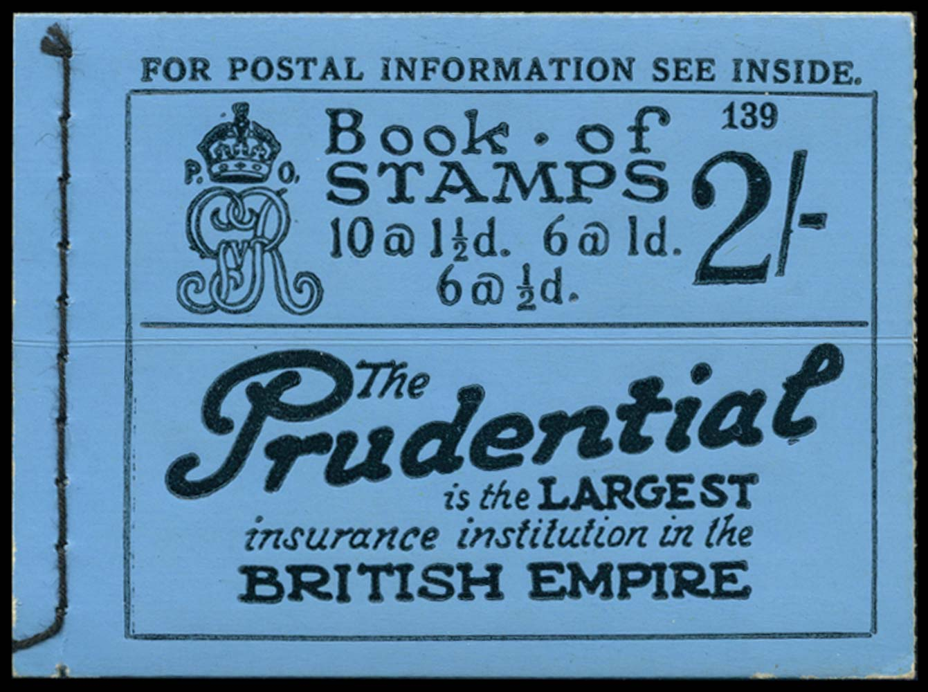 GB 1924  SGBB12 Booklet (Edition 139)