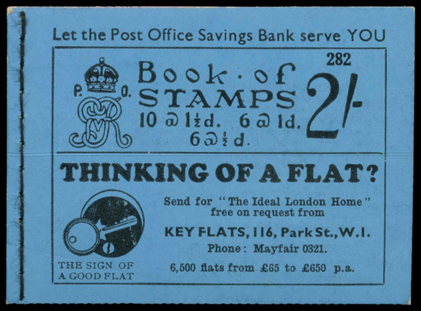 GB 1934  SGBB14 Booklet (Edition 282)