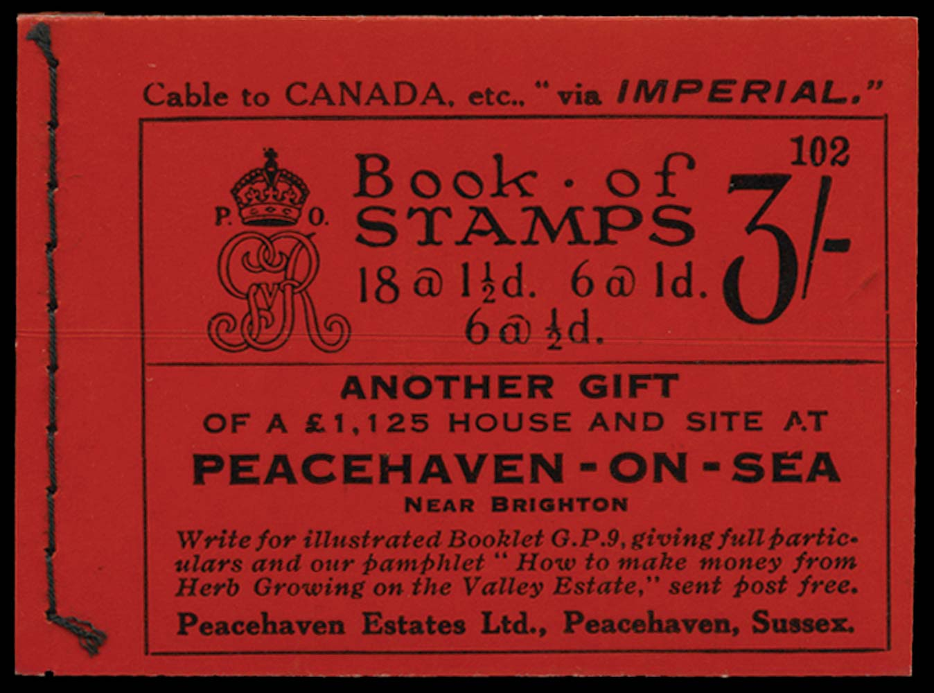 GB 1924  SGBB24 Booklet (Edition 102)