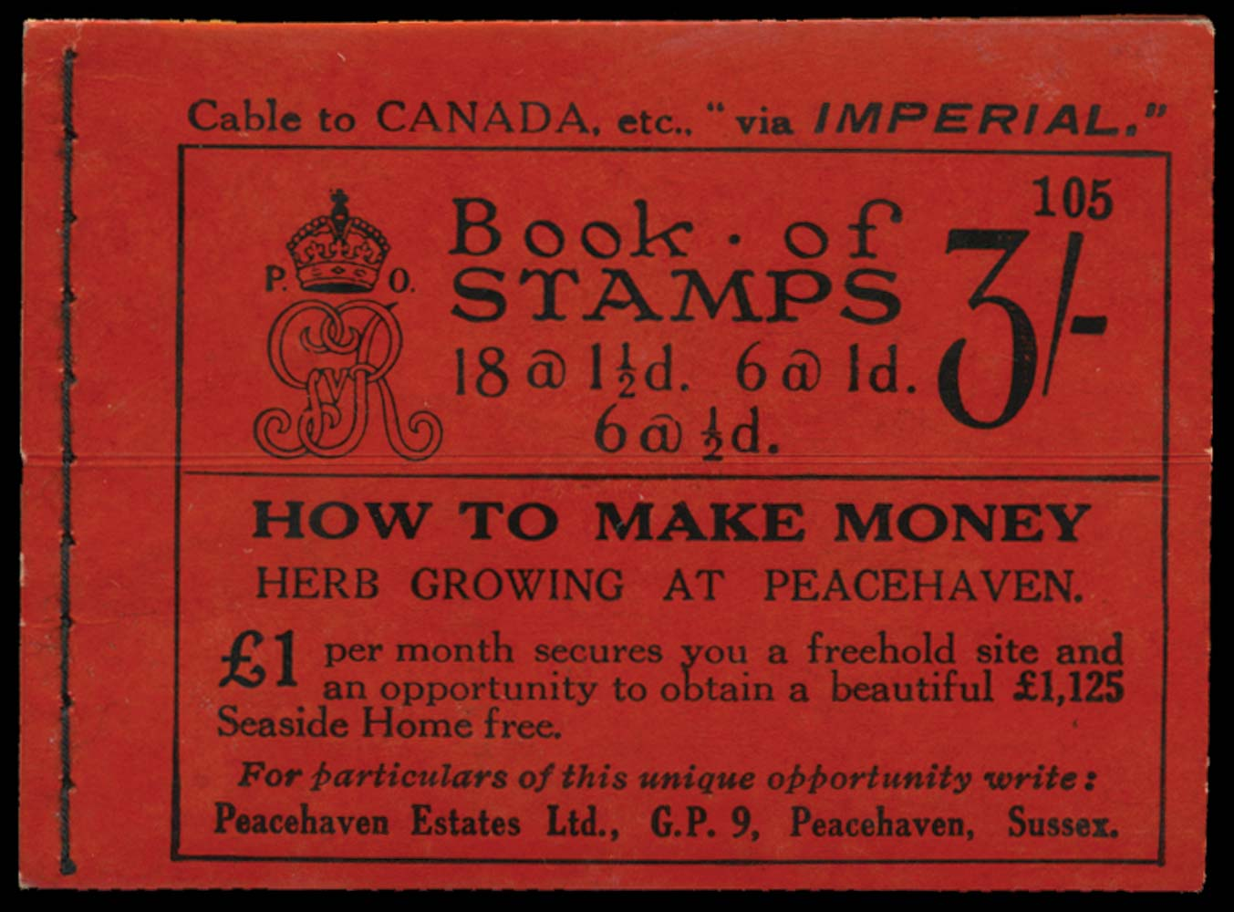 GB 1924  SGBB24 Booklet (Edition 105)