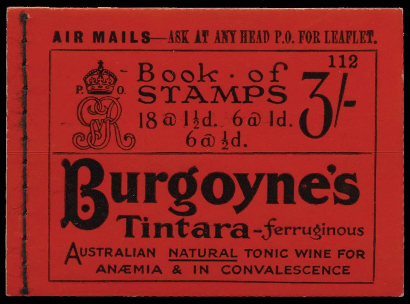 GB 1924  SGBB24 Booklet (Edition 112)