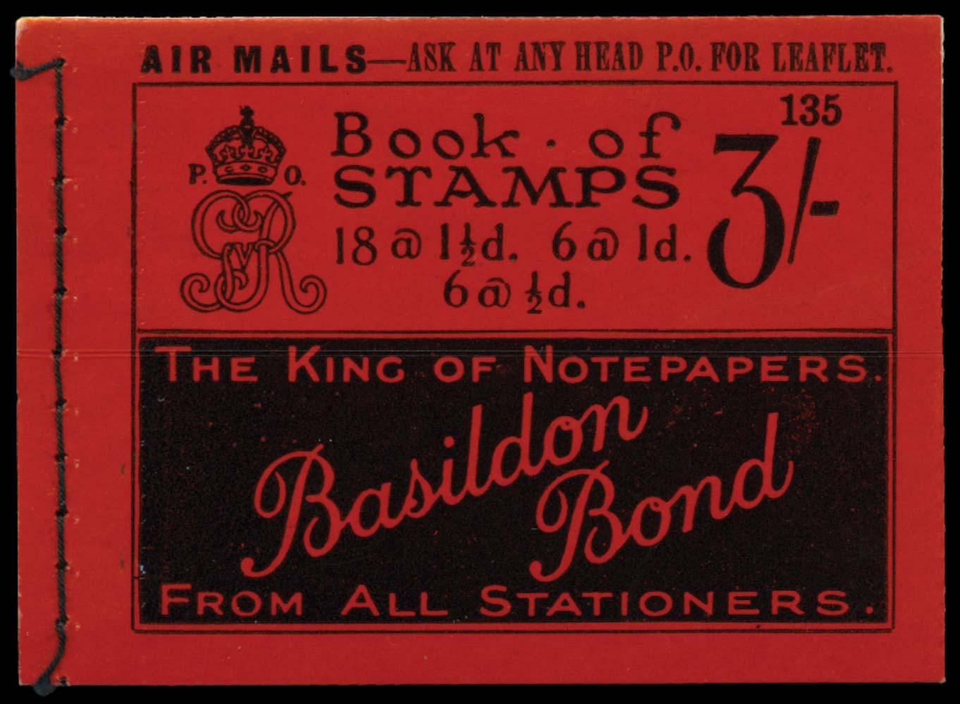 GB 1924  SGBB24 Booklet (Edition 135)