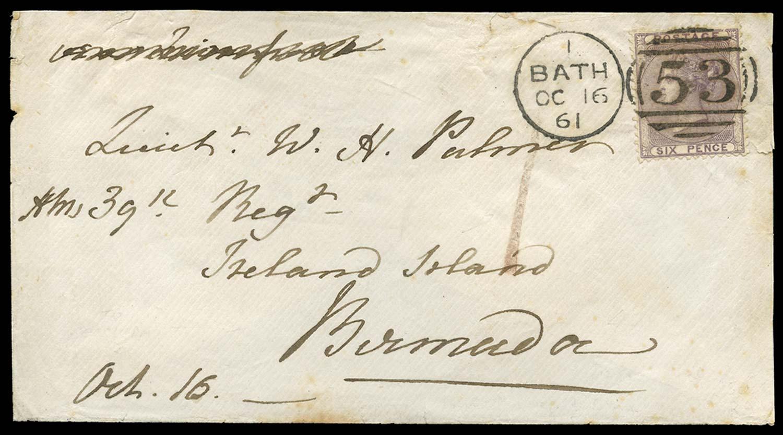 GB 1861  SG70 Cover to Ireland Isle, Bermuda