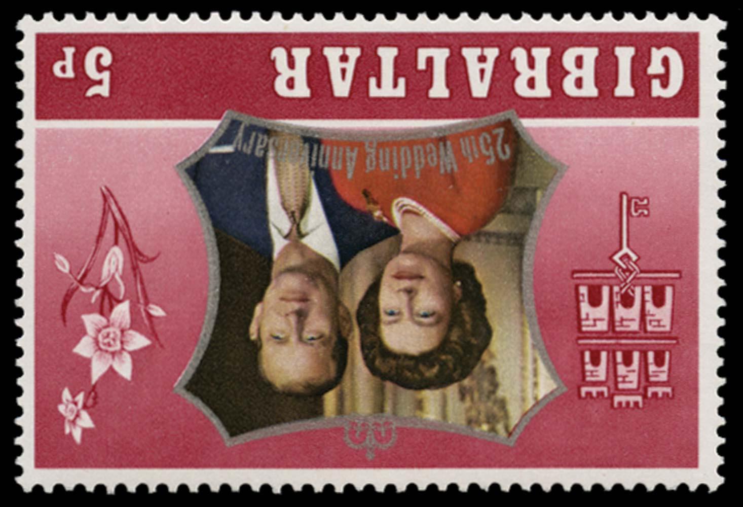 GIBRALTAR 1972  SG306w Mint