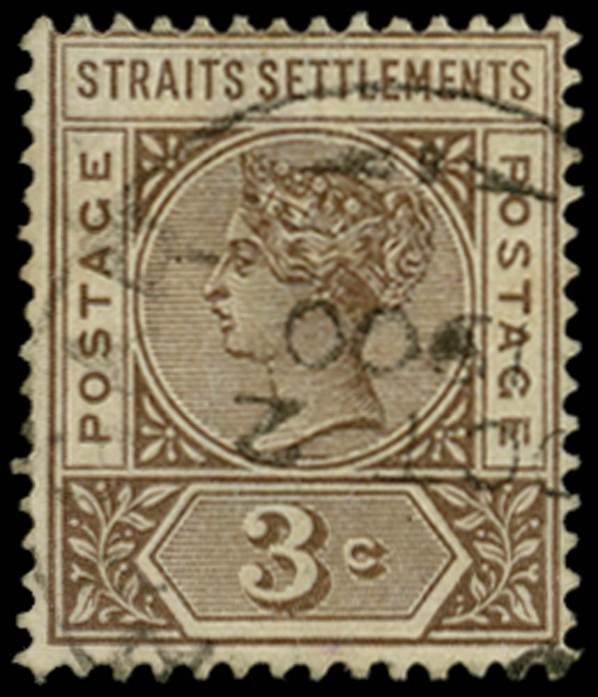 MALAYA - STRAITS 1892  SG97a Used