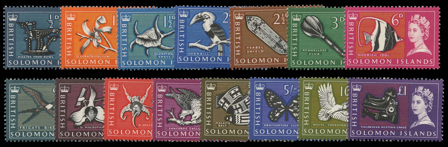 SOLOMON ISLANDS 1965  SG112/26 Mint