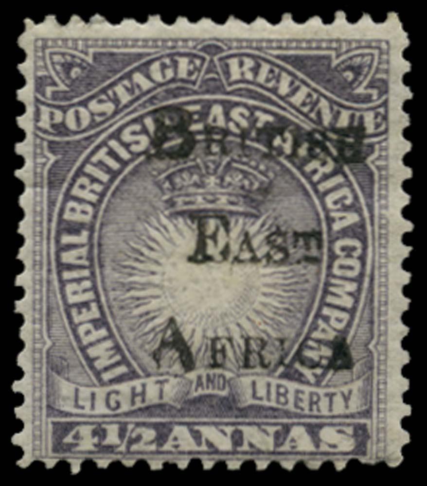 BRITISH EAST AFRICA 1895  SG39 Mint