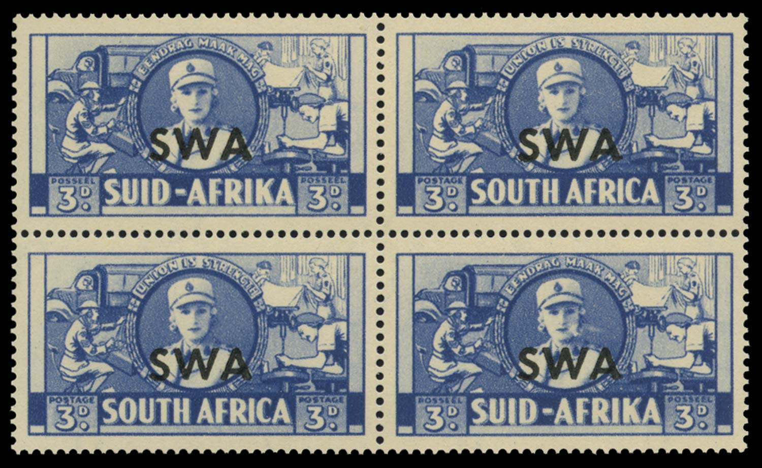 SOUTH WEST AFRICA 1941-43  SG117/a Mint