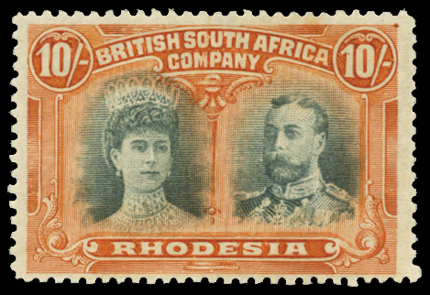 RHODESIA 1910  SG164 var Mint
