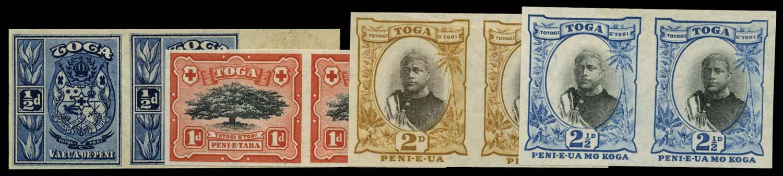 TONGA 1897  SG38a/43b Proof
