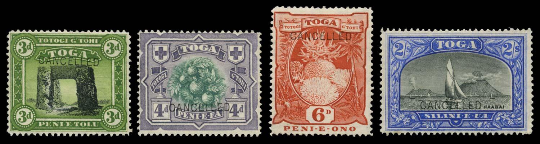TONGA 1897  SG44a/5a, 47, 51a Specimen