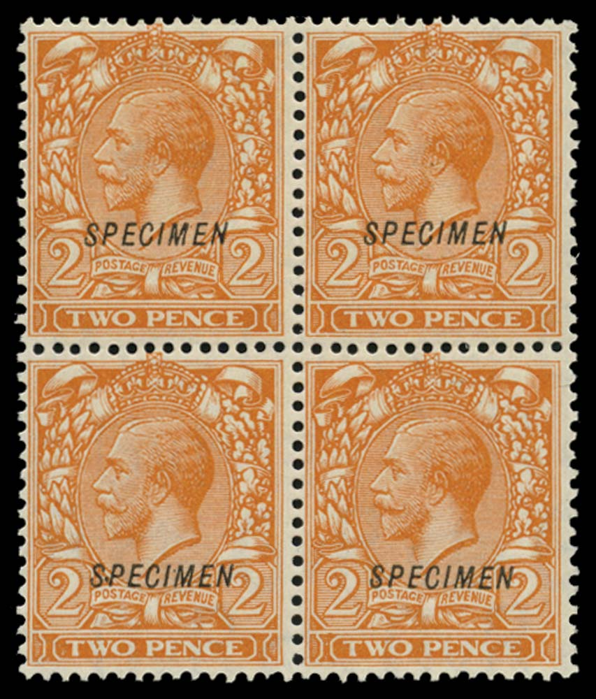 GB 1924  SG421s var Specimen Type 23 double, one albino