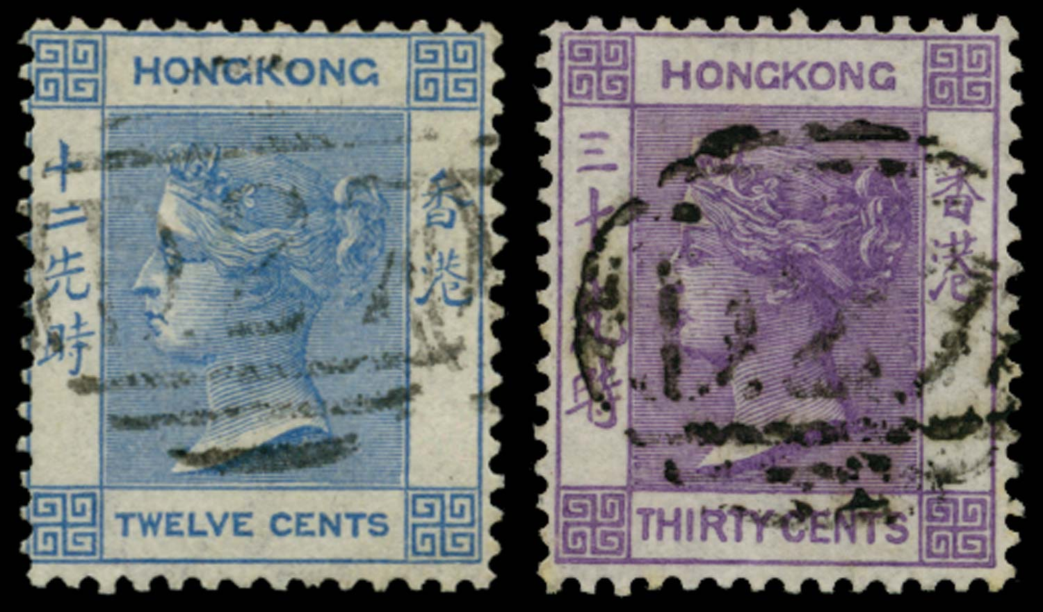 HK BRIT PO IN CHINA 1863  SGZ12, Z16 Cancel
