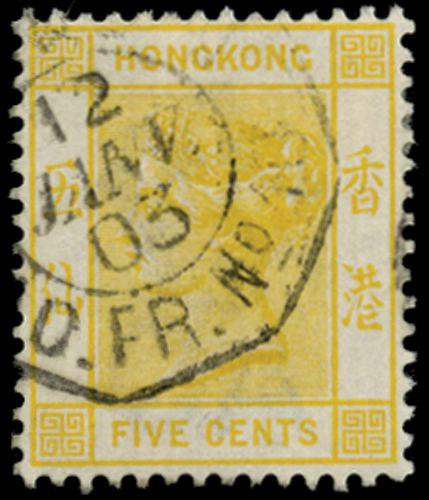 HONG KONG 1900  SG58 Cancel