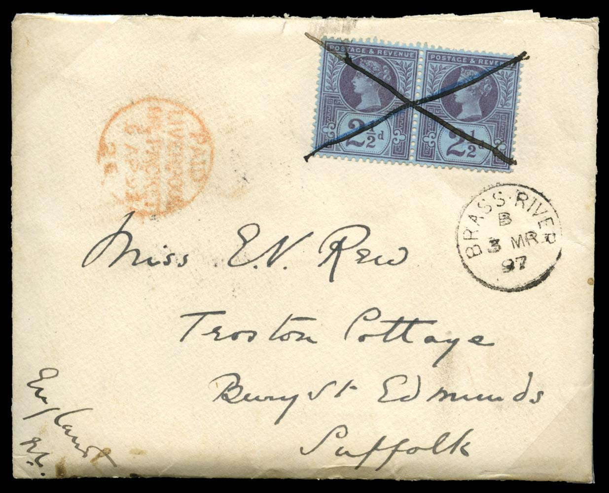 NIGER COAST 1897  SGZ17 Cover