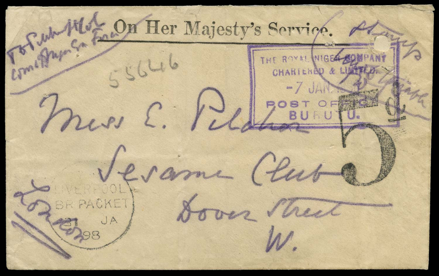 NIGER COMP. TERRS 1898 Cover