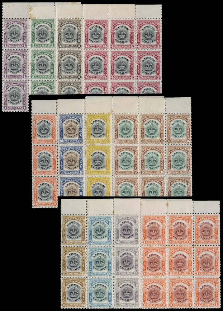 LABUAN 1902  SG117/28vars Mint