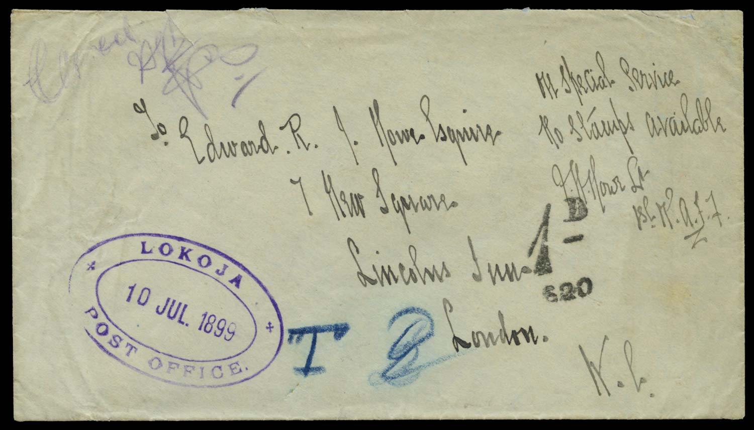 NIGER COMP. TERRS 1899 Cover