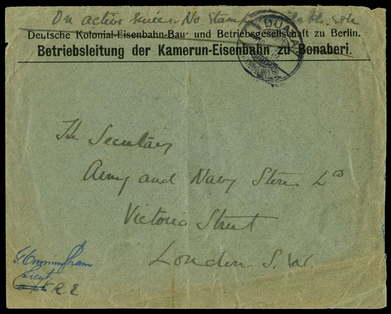CAMEROON 1915 Cover