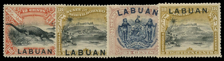 LABUAN 1897  SG98a/101 Mint