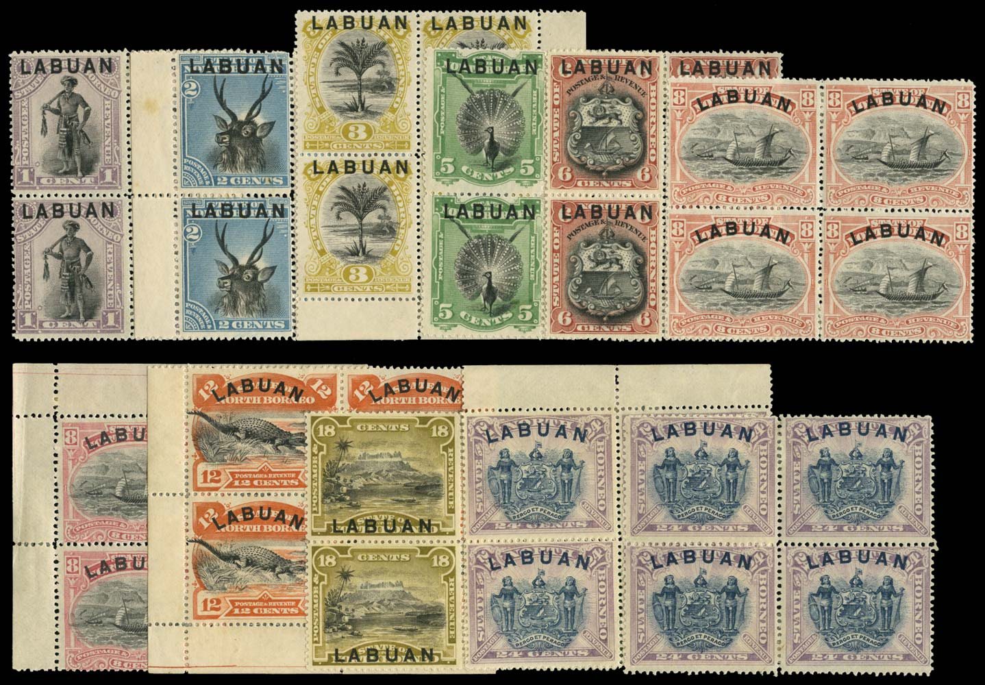 LABUAN 1894  SG62/74a Mint