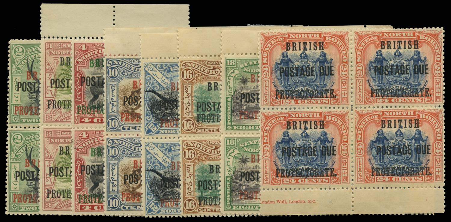 NORTH BORNEO 1902  SGD38/40, 45/9 Postage Due