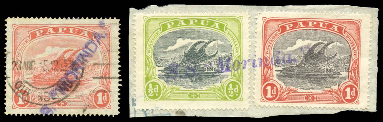 PAPUA 1911  SG85, 93a, 94b Cancel