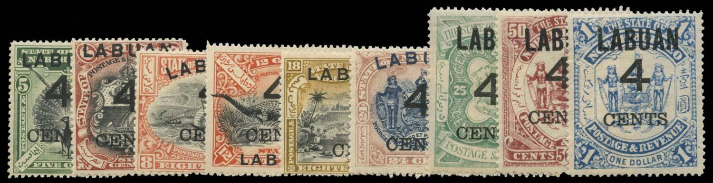 LABUAN 1899  SG102/10 Mint