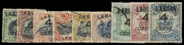 LABUAN 1899  SG102/10 Used