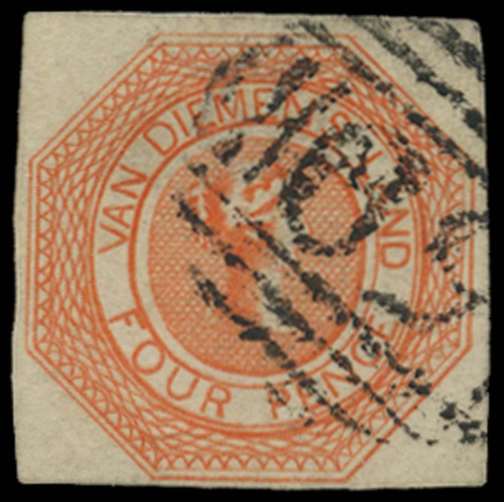TASMANIA 1853  SG5 Used