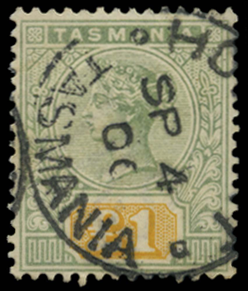TASMANIA 1892  SG225 Used