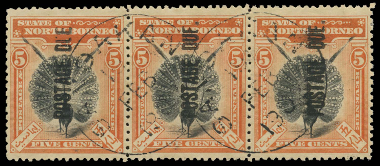 NORTH BORNEO 1901  SGD28, var Postage Due