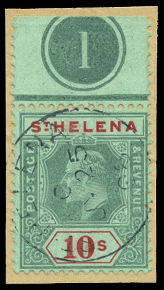 ST HELENA 1908  SG70 Used