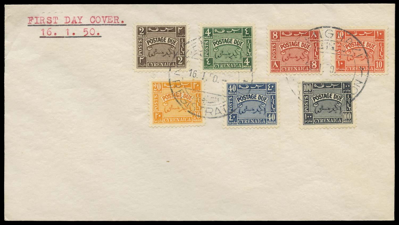 B.O.I.C. CYRENAICA 1950  SGD149/55 Postage Due