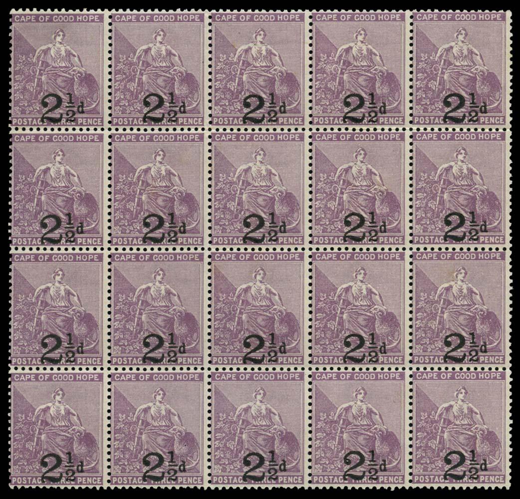 CAPE OF GOOD HOPE 1891  SG55a/b Mint
