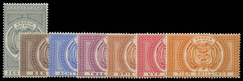 ORANGE FREE STATE 1882  SGF1,3,5/12 Postal Fiscal