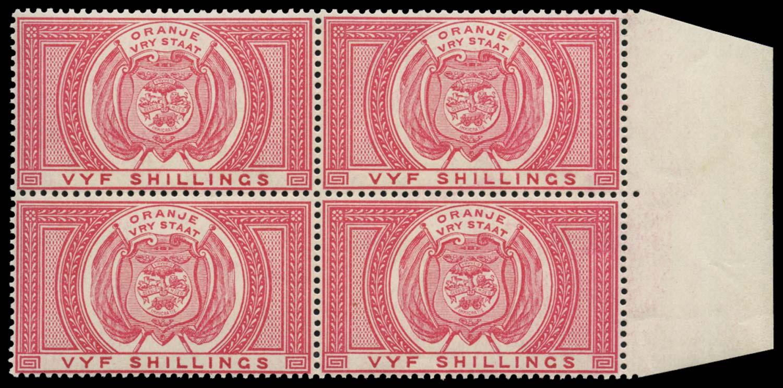 ORANGE FREE STATE 1882  SGF9 Postal Fiscal