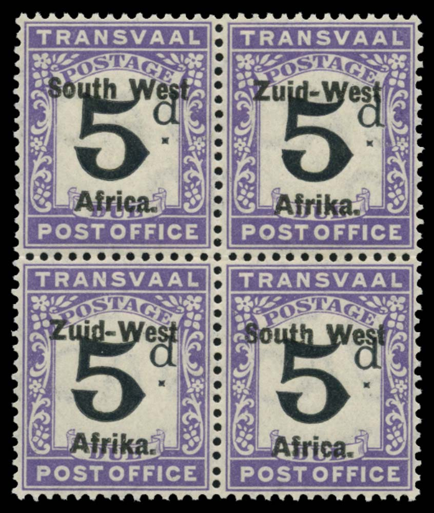 SOUTH WEST AFRICA 1923  SGD10 Postage Due