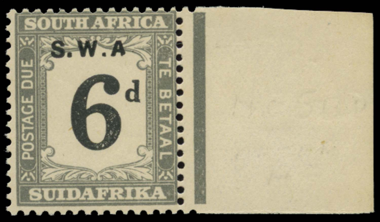 SOUTH WEST AFRICA 1928  SGD46a Postage Due