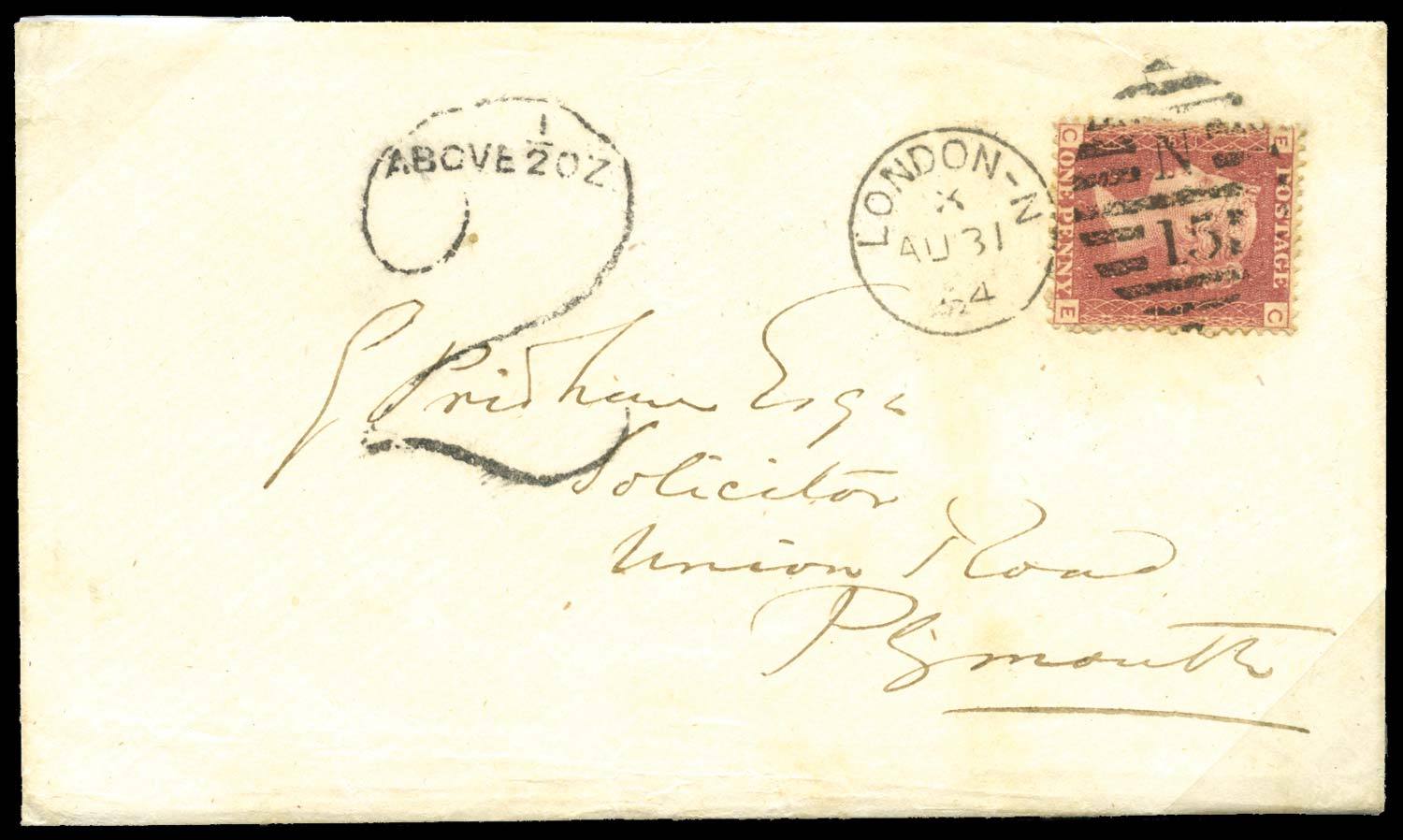 GB 1864  SG40 Pl.81 Cover with
