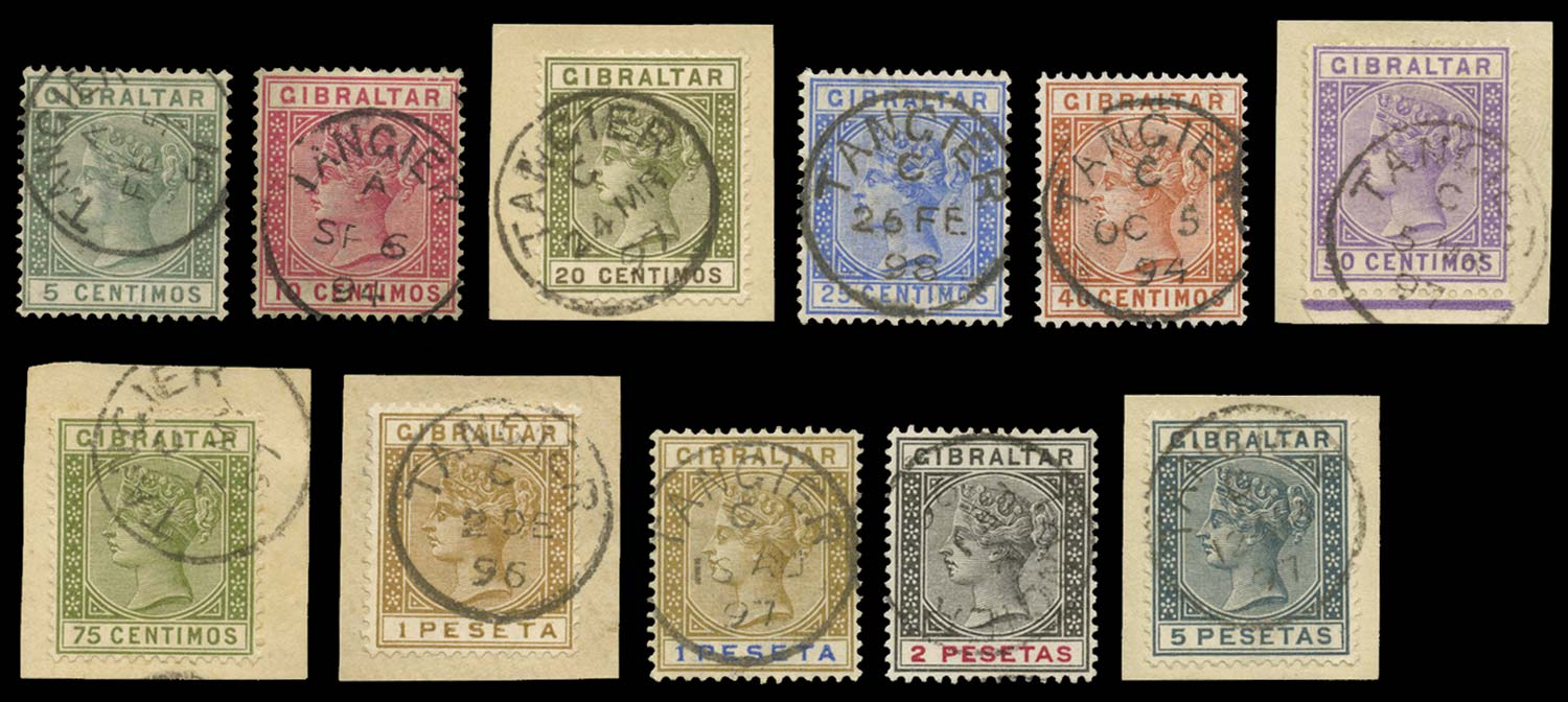 MOROCCO AGENCIES 1889  SGZ141/52 Cancel