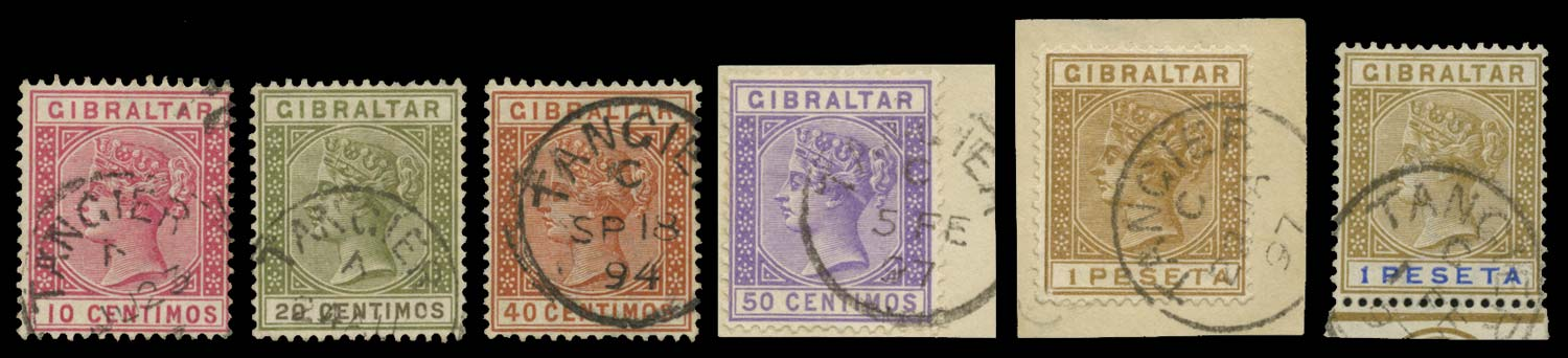 MOROCCO AGENCIES 1889  SGZ142/50 Cancel
