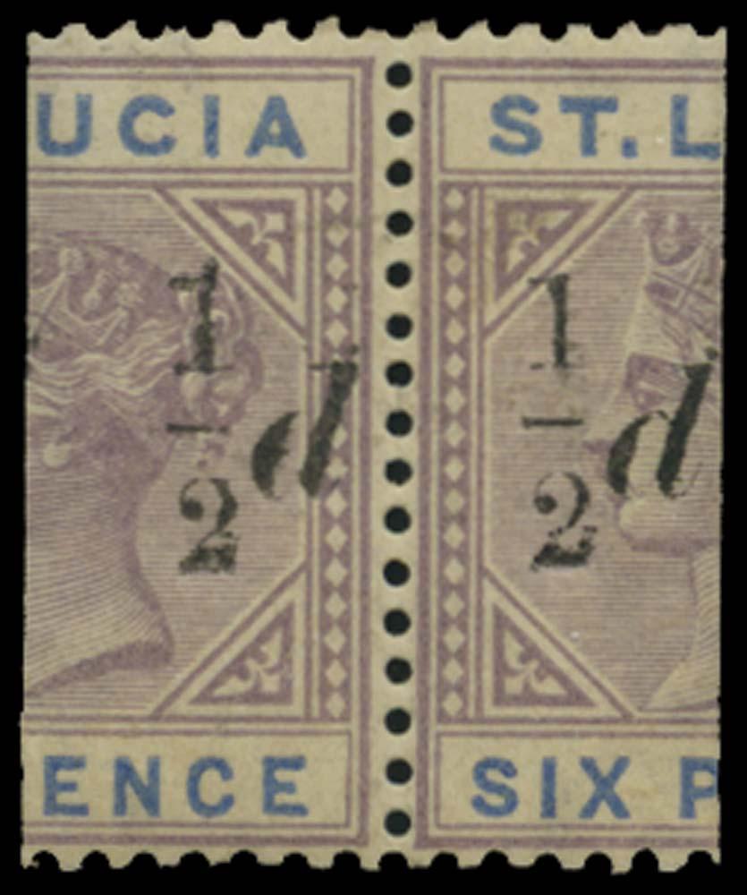 ST LUCIA 1891  SG54/e Mint