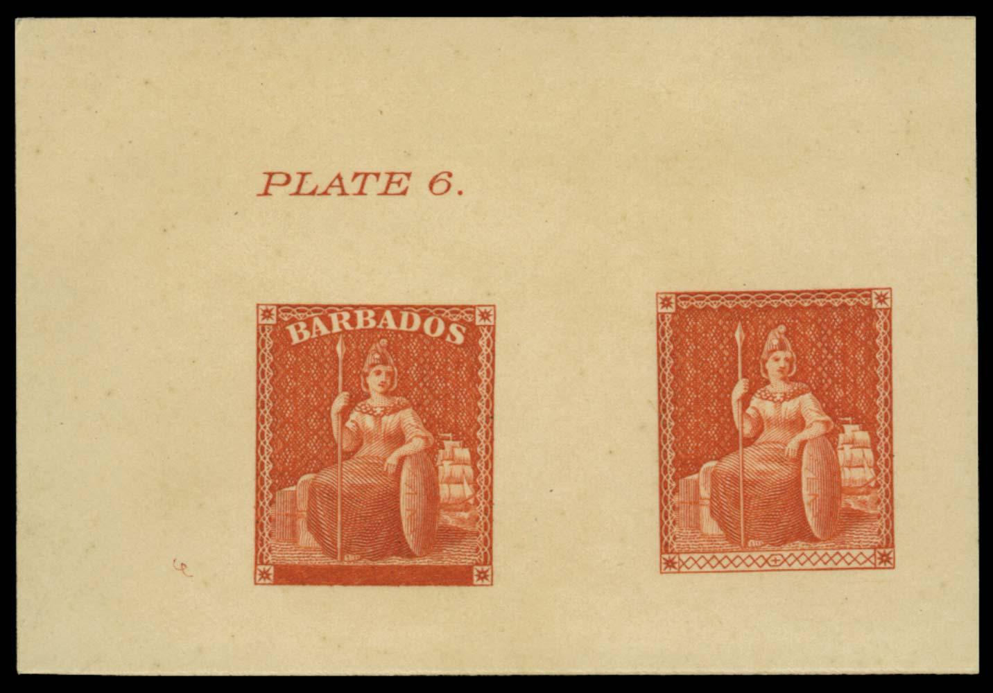 BARBADOS 1858  SG11 Reprint