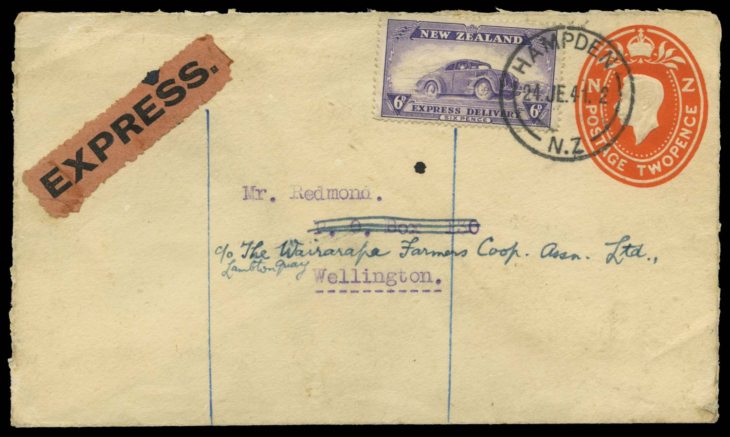 NEW ZEALAND 1941  SGE6 Cover